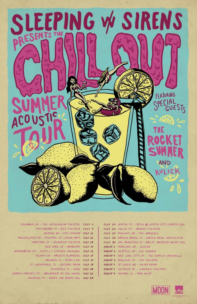 Sleeping with sirens chill out summer acoustic tour featuring sleeping with sirens chill out summer acoustic tour featuring special guest the rocket summer sixth i m4hsunfo